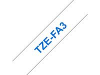 BROTHER 12MM Blue On White Fabric Tape (TZEFA3)