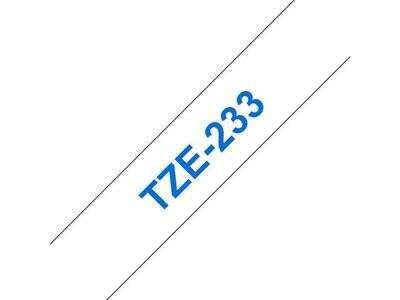 BROTHER 12MM Blue On White Tape (TZE233)