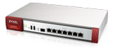 ZYXEL rec. for up to 100 users 7 freely configurable ports + 1xSFP 2xUSB 2.600 Mbps Throughput 1.000Mbps UTM Sandboxing optional