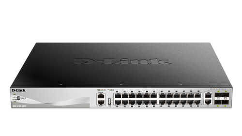 D-LINK 48 x 10/ 100/ 1000BASE-T PoE ports (370W budget) Layer 3 (DGS-3130-54PS/SI)