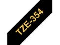 BROTHER TZe tape 24mmx8m gold/ black