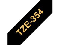 BROTHER 24MM Gold On Black Tape (TZE354)