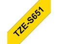BROTHER Tape BROTHER TZES651 24mm sort/gul