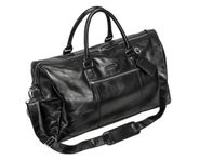 Weekendbag PIERRE Buffalo-skinn sort