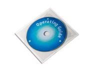 DURABLE CD/DVD konvolutt DURABLE i plast (10) (8080-19)