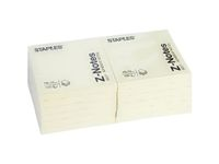STAPLES Z-note STAPLES 76x76mm gul (7333713*12)