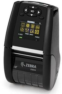 ZEBRA DT Printer ZQ610 2in./ 48mm,  English fonts, Dual 802.11AC / BT4.x, Linered platen, 0.75in. core, Group E, Shoulder strap, Ext Battery (ZQ61-AUWAEC0-00)
