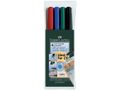FABER-CASTELL Multimarker Faber-Castell F 0,6mm Etui/4 ass