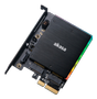 AKASA M.2 PCIe and M.2 SATA SSD adapter card with RGB light and heatsink