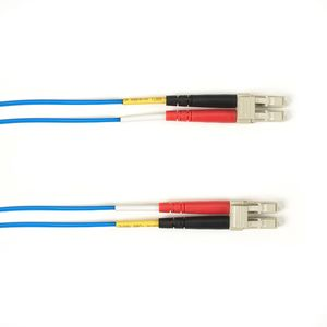 BLACK BOX COLOURED SINGLEMODE PATCH CABLE - LSZH DUPLEX - BLUE, LC-LC, 2M (FOLZHSM-002M-LCLC-BL)