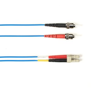BLACK BOX FO Patch Cable Color Multi-m OM2 - Blue ST-LC 15m Factory Sealed (FOLZH50-015M-STLC-BL)
