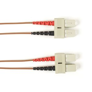 BLACK BOX FO Patch Cable Color Multi-m OM2 - Brown SC-SC 15m Factory Sealed (FOLZH50-015M-SCSC-BR)