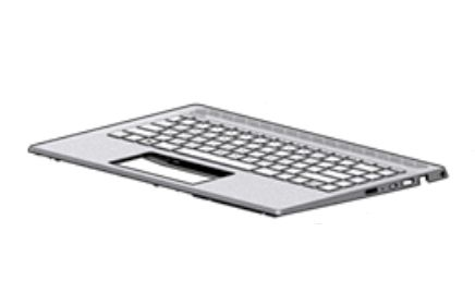 HP Top Cover W Kb Nsv Bl Itl (L19191-061)