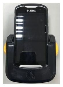 ZEBRA TC56 DROP-IN STYLE MEDIUM DUTY CHARGING VEHICLE CRADLE WITH SIDE LOCKING LATCHES TO HELP THE TC56 STAY IN PLACE.  USE WITH RAM MOUNTS, RAM-B-166U SUCTION CUP MOUNT PREFERRED. (CRD-TC56-CVCD2-02)