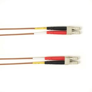 BLACK BOX FO Patch Cable Color Multi-m OM3 - Brown LC-LC 20m Factory Sealed (FOLZH10-020M-LCLC-BR)