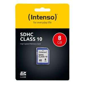 INTENSO Memory card SD  8GB Intenso (3411460)