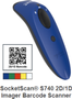 SOCKET SOCKETSCAN S740 2D BLUE BARCODE SCANNER                  IN PERP
