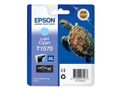 EPSON T157 Light Cyan Cartridge - Retail Pack Stylus Photo R3000