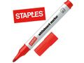 STAPLES Whiteboardpen STAPLES 1,5-3 rød