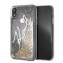 KARL LAGERFELD TRANSP TPU CASE KARL SIGNATURE - LIQUID GLITTER GOLD IPHONE 6.1