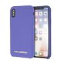 KARL LAGERFELD KARL SILICONE CASE SOFT TOUCH  GOLD LOGO VIOLET IPX