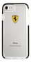 FERRARI HARD CASE GLOSSY TRANSPARENT SHOCKPROOF BLACK SIDE RACING LOGO IP 8