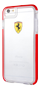 FERRARI HARD CASE GLOSSY TRANSPARENT SHOCKPROOF RED SIDE RACING LOGO IP 8