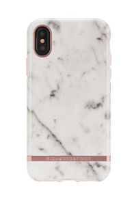 Richmond & Finch Finch White Marble case, Rose gold details, iPhone X/XS (IPX-116)