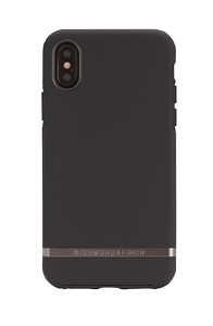 Richmond & Finch Finch Black Out case, Silver details, iPhone X/XS (IPX-112)