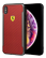 FERRARI - SF - RACING SHIELD - PRINTED CARBON EFFECT - RED  IP6.5