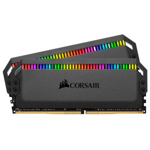 CORSAIR memory D4 3200 16GB C16 Corsair Dom K2 2x8GB, 1.35V,  Dominator Platinum RGB Black Hsp, AMD (CMT16GX4M2Z3200C16)