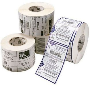 ZEBRA Label, Paper, 75x37mm, Thermal Transfer, Z-PERFORM 1000T, Uncoated, Permanent Adhesive, 25mm Core (3001163)