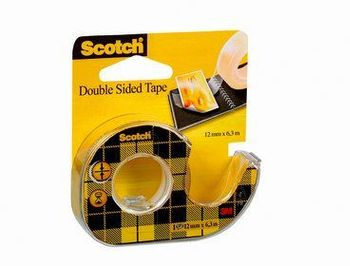 3M SCOTCH TEJP DUBBELHÄFTANDE 665, 6MX12 MM MED HÅLLARE 12-PACK (136D)