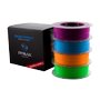 PRIMA PrimeCreator EasyPrint Neon PLA 3D-Printer Filament, Purple/Blue/Orang