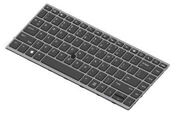 HP Keyboard (Danish) (L14378-081)