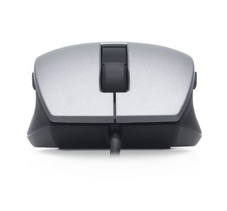 DELL Laser Scroll Mouse USB, 6 buttons, silver-svart (570-11349)