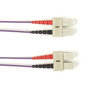 BLACK BOX FO Patch Cable Color Multi-m OM3 - Violet SC-SC 1m Factory Sealed (FOLZH10-001M-SCSC-VT)