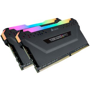CORSAIR DDR4, 3600MHz 32GB 2x 288 DIMM, Unbuffered,  18-22-22-42,  Vengeance RGB PRO black Heat spread (CMW32GX4M2Z3600C18)