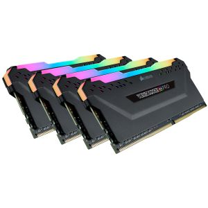 CORSAIR 128GB (4-KIT) DDR4 3600MHz Vengeance RGB PRO Black C18 (CMW128GX4M4D3600C18)