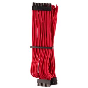 CORSAIR Premium Individually Sleeved PSU Cable Pro Kit_ Type 4 (Generation 4)_ RED (CP-8920223)