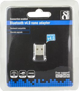 DELTACO Bluetooth 4.0 adapter, USB 2.0, CSR 4.0, 3 Mb/s, svart (BT-118)