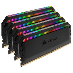 CORSAIR memory D4 3600 32GB C18 Corsair Dom K4 4x8GB, 1.35V,  Dominator Platinum RGB Black Hsp (CMT32GX4M4C3600C18)