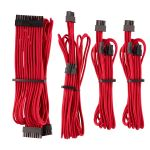 CORSAIR Premium Individually Sleeved PSU Cable Starter Kit_ Type 4 (Generation 4)_ RED (CP-8920216)