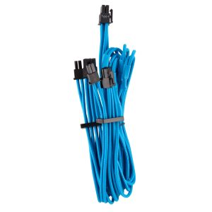 CORSAIR Premium Individually Sleeved Split PCIe cable (2 connectors)_ Type 4 (Generation 4)_ BLUE (CP-8920253)