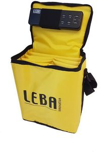LEBA NoteBag with 5-ports USB charge Yellow (NB2-5C-YEL-SC)
