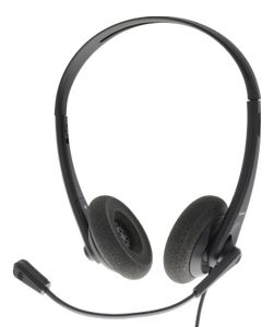 DELTACO Business USB headset, volume control, noise reducing