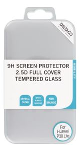 DELTACO screen protector for Huawei P30 Lite, 2.5D glass, full screen (SCRN-1028)