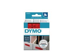 DYMO D1 12mm tape black/red (S0720570)