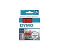 DYMO D1 Tape / 24mm x 7m / Black Text / Red Tape