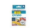 DYMO D1 6mm Black/ Yellow labels 43618